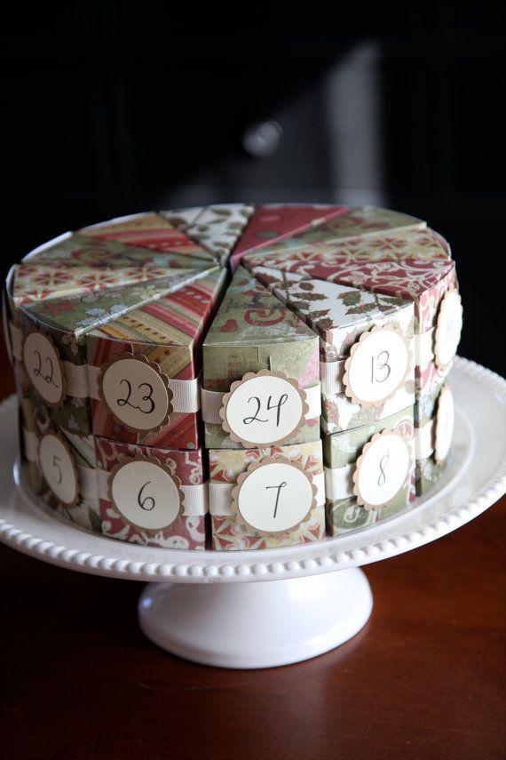 Adventi naptár torta