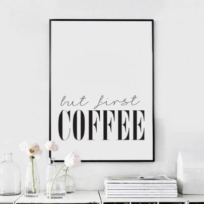 But first coffee poster (Aliexpressz)