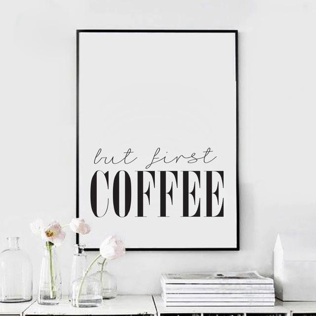 But first coffee poster (Aliexpressz)