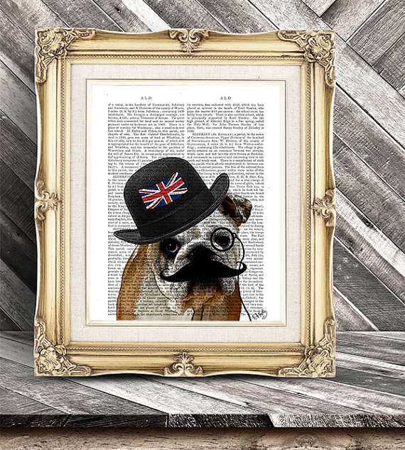 Bulldog print (Etsy)