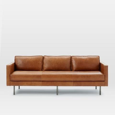 Bőr kanapé (Westelm)